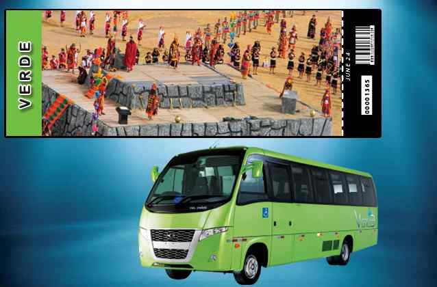 Billet Inti Raymi 2020. Section verte + bus de tournée