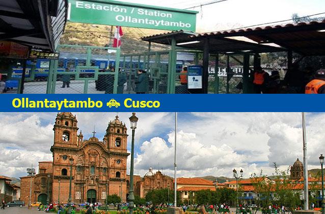 OllantaytamboからCuscoまでの交通機関
